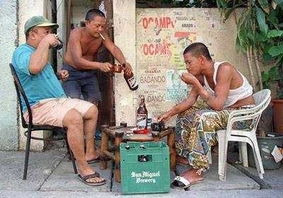 pag-inom ng beer